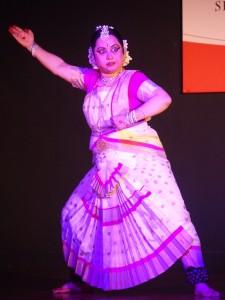 Performing a dance on Nila Saraswati